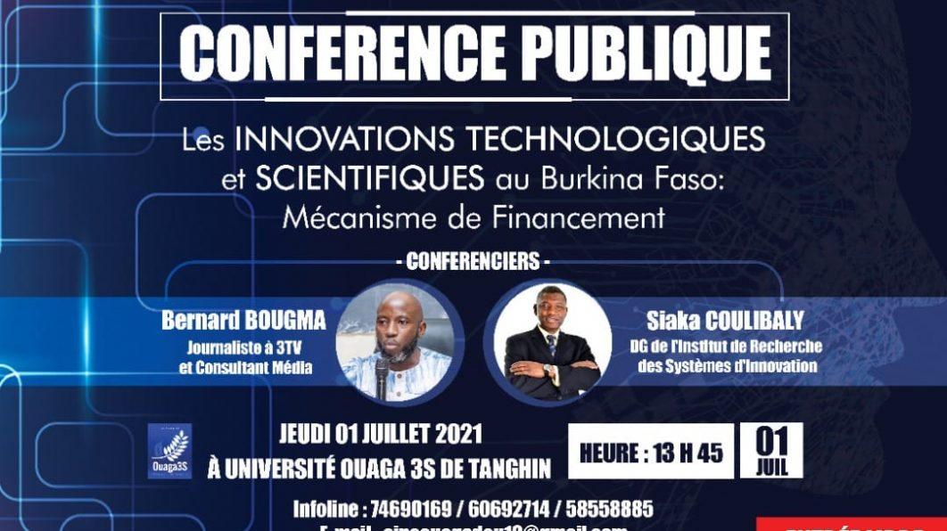 Conférence publique: Les INNOVATIONS TECHNOLOGIQUES et SCIENTIFIQUES au Burkina Faso.