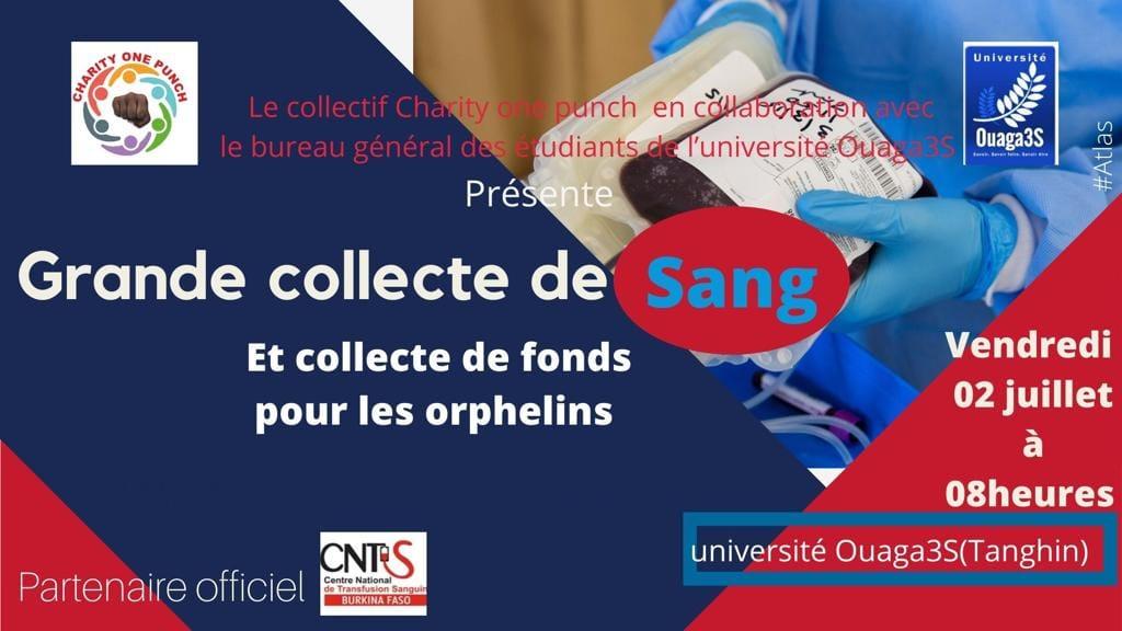 Grande collecte de sang et collecte de fond pour les orphelins